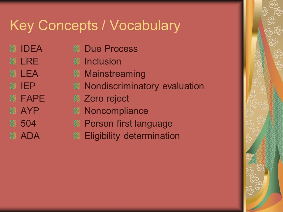 Key Concepts / Vocabulary