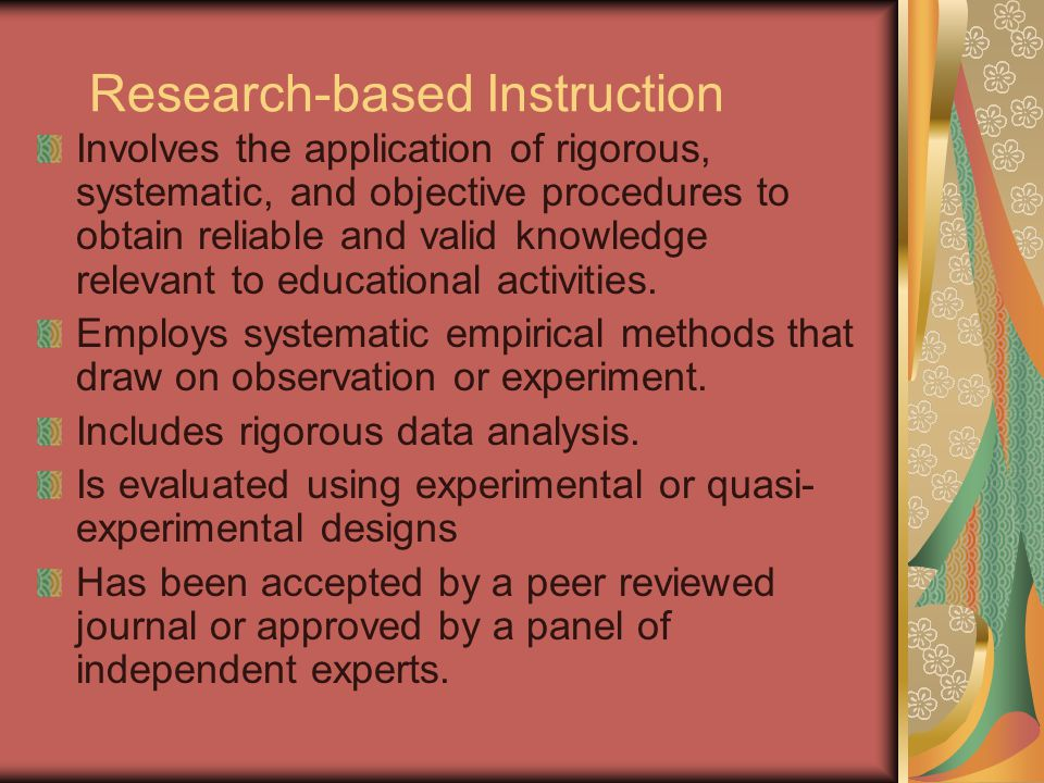 Research-based Instruction