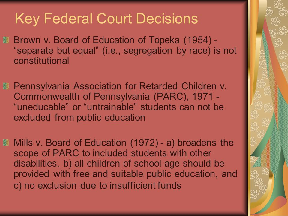 Key Federal Court Decisions