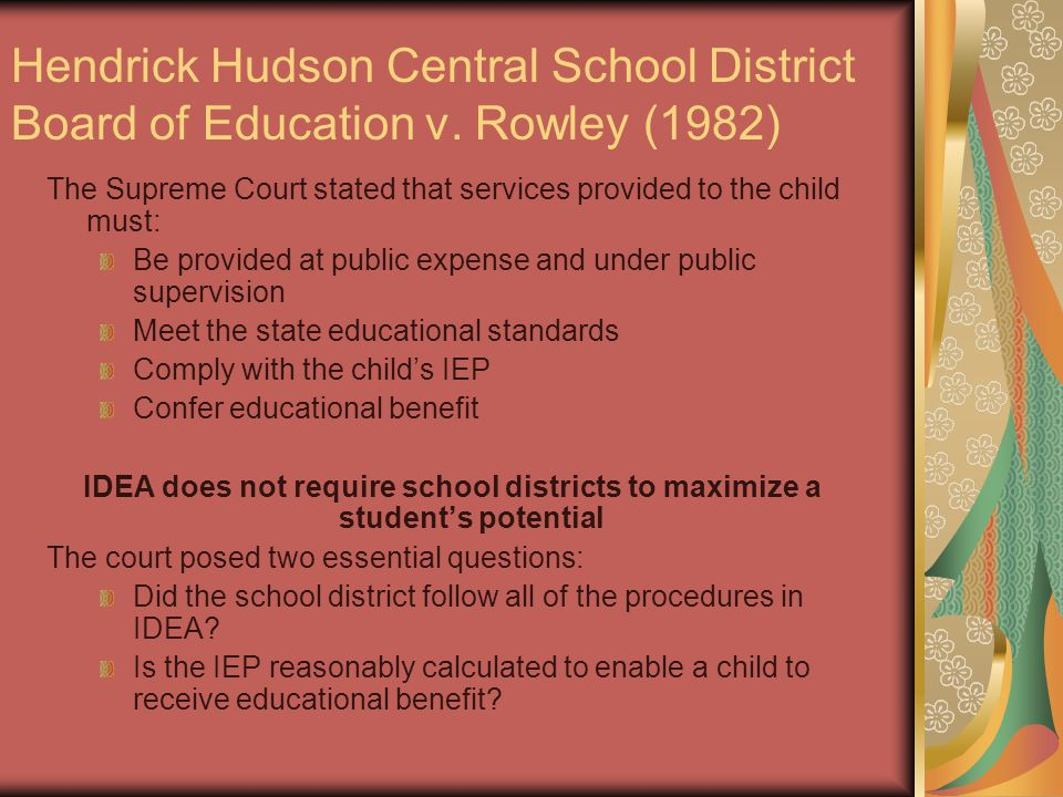 Hendrick Hudson Central School District Board of Education v