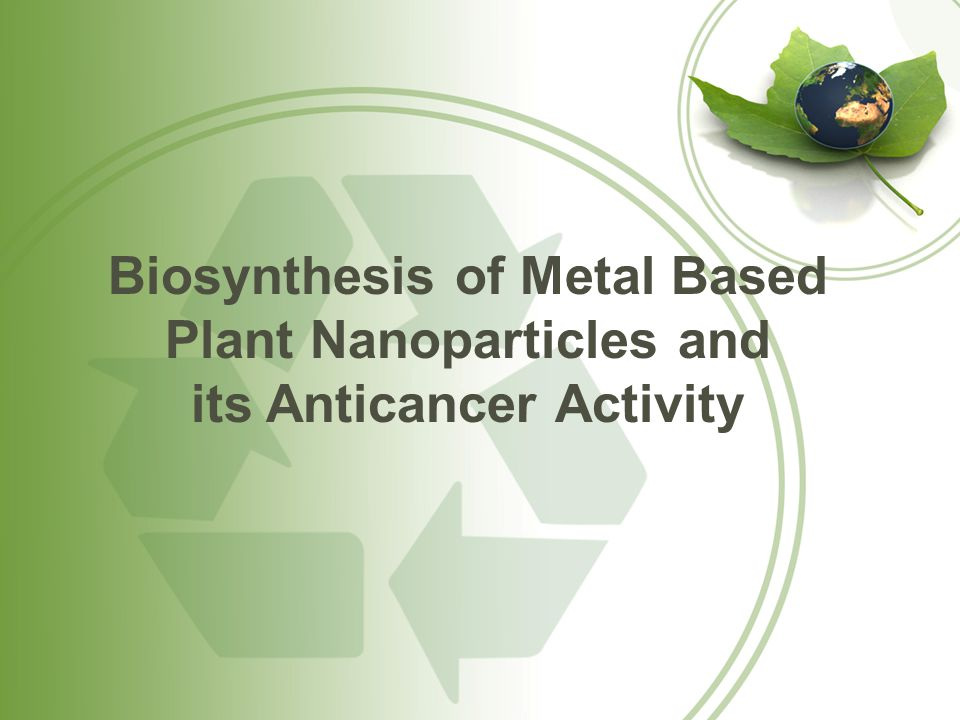 Biosynthesis of Metal Based Plant Nanoparticles and