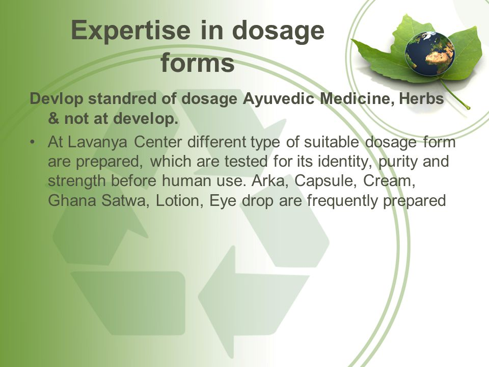 Expertise in dosage forms