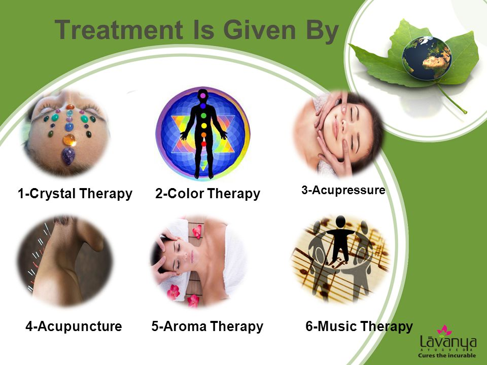 Treatment Is Given By 1-Crystal Therapy 2-Color Therapy 4-Acupuncture