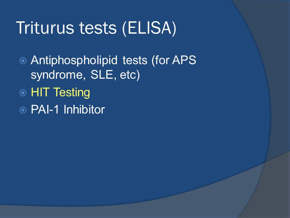Triturus tests (ELISA)