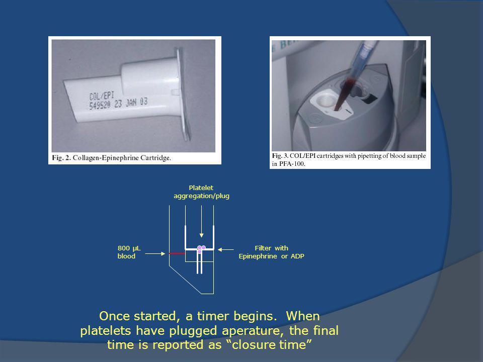 Platelet aggregation/plug