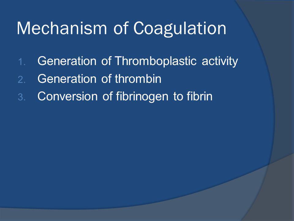 Mechanism of Coagulation