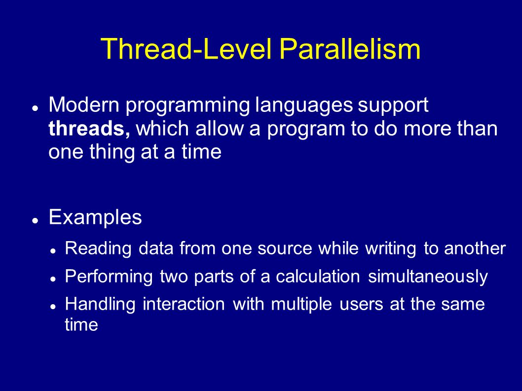 Thread-Level Parallelism