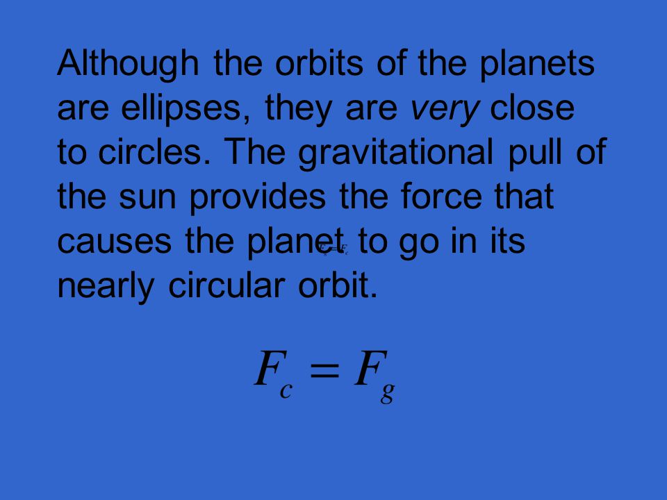 Although the orbits of the planets are ellipses, they are very close to circles.