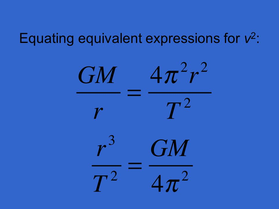 Equating equivalent expressions for v2:
