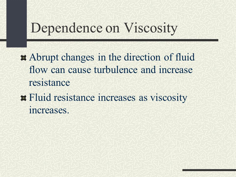 Dependence on Viscosity