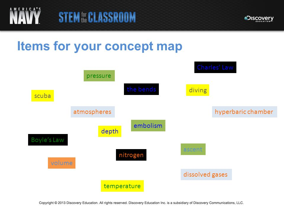Items for your concept map