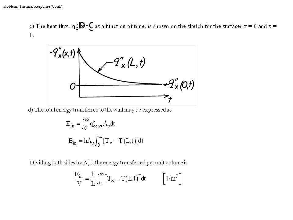 Problem: Thermal Response (Cont.)