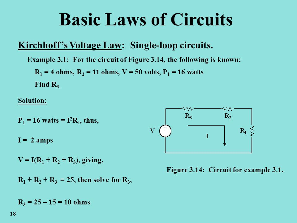 Basic Laws of Circuits Kirchhoff's Voltage Law: Single-loop circuits.