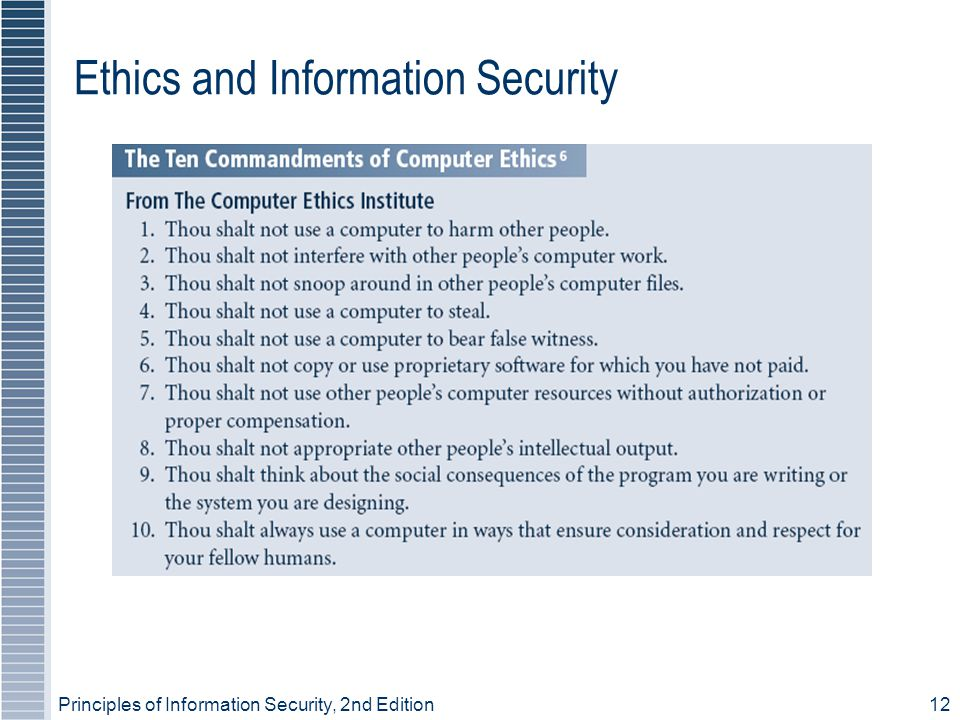Ethics and Information Security