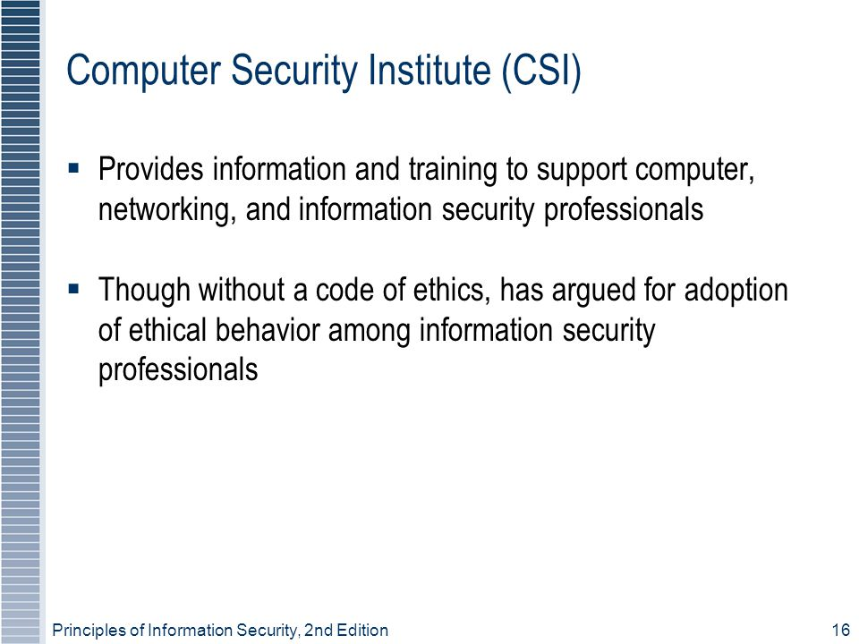 Computer Security Institute (CSI)