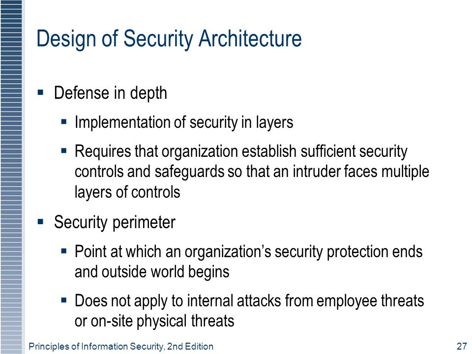 Design of Security Architecture