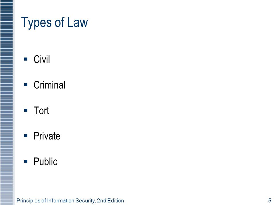 Types of Law Civil Criminal Tort Private Public