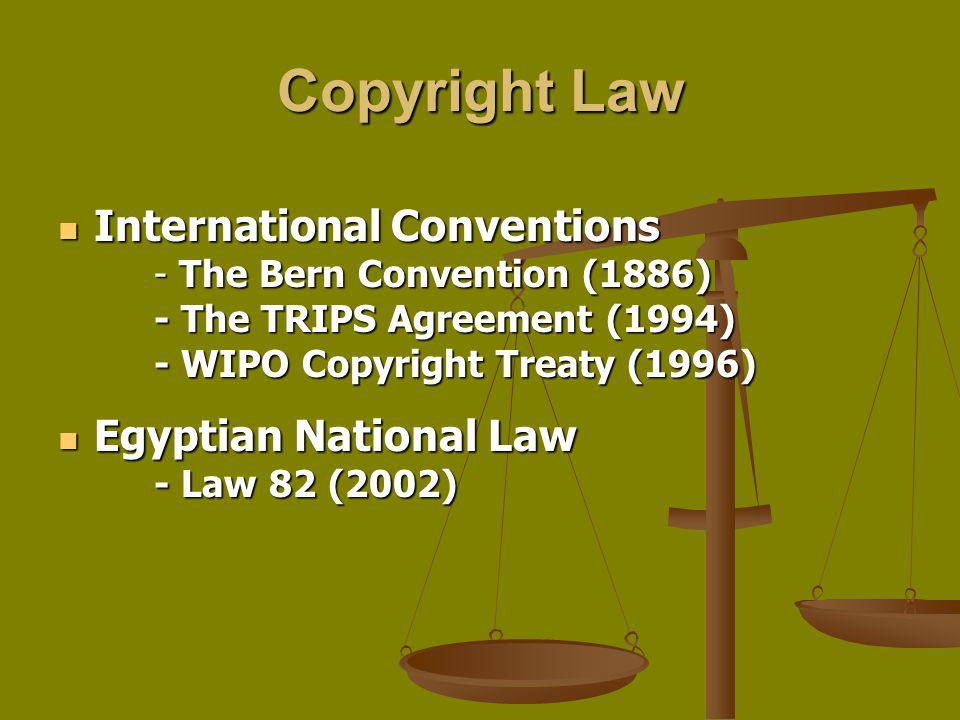 Copyright Law International Conventions Egyptian National Law