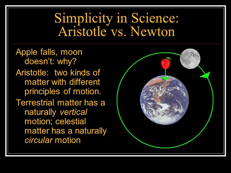 Simplicity in Science: Aristotle vs. Newton