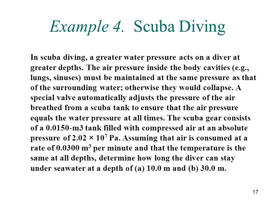 Example 4. Scuba Diving