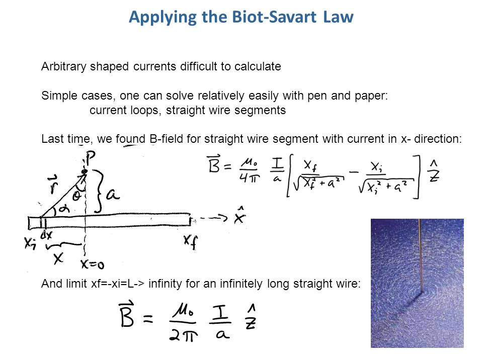 Applying the Biot-Savart Law