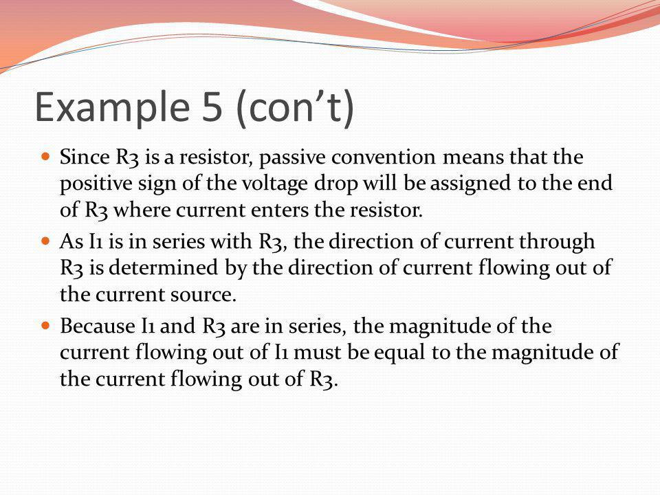 Example 5 (con't)