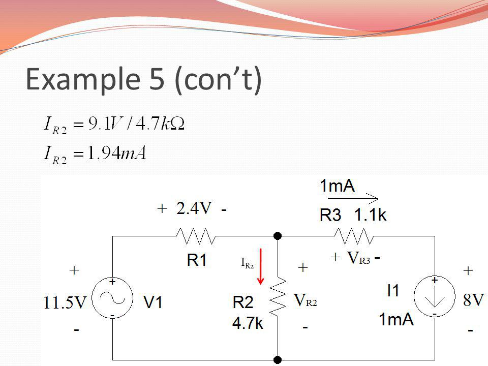 Example 5 (con't) IR2