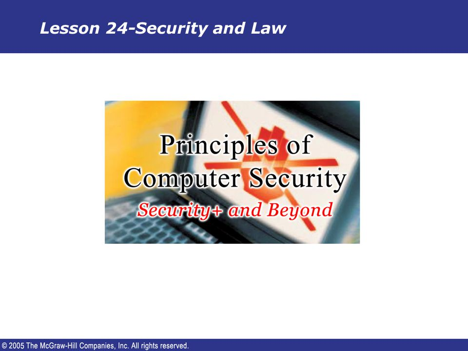 Lesson 24-Security and Law