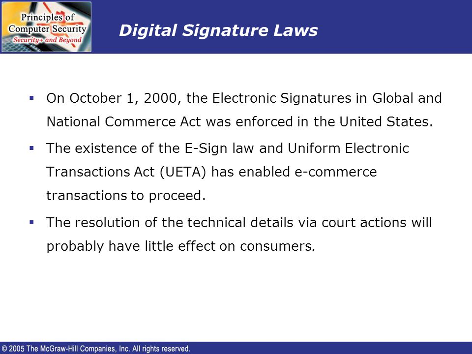 Digital Signature Laws