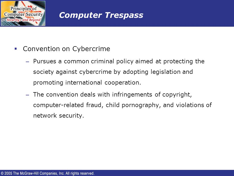 Computer Trespass Convention on Cybercrime