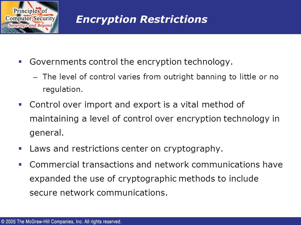 Encryption Restrictions