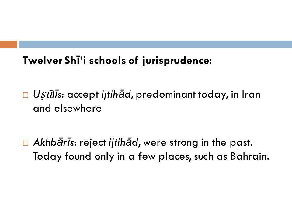 Twelver Shī'i schools of jurisprudence: