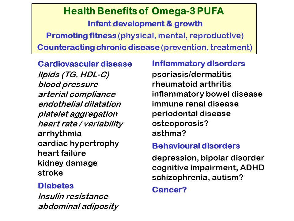 Health Benefits of Omega-3 PUFA Infant development & growth