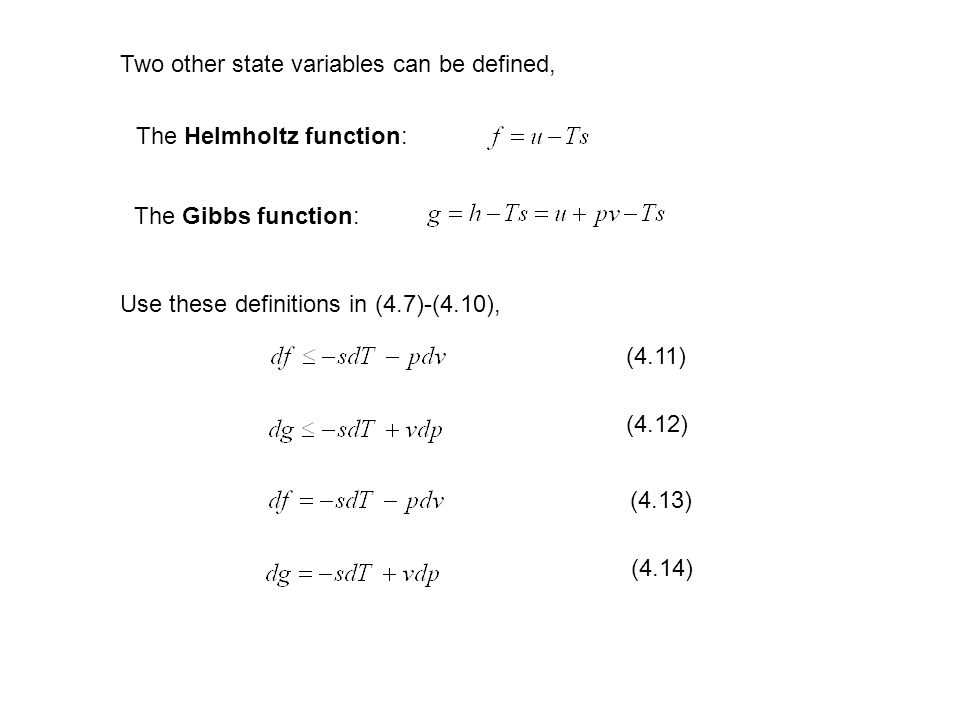 Two other state variables can be defined,