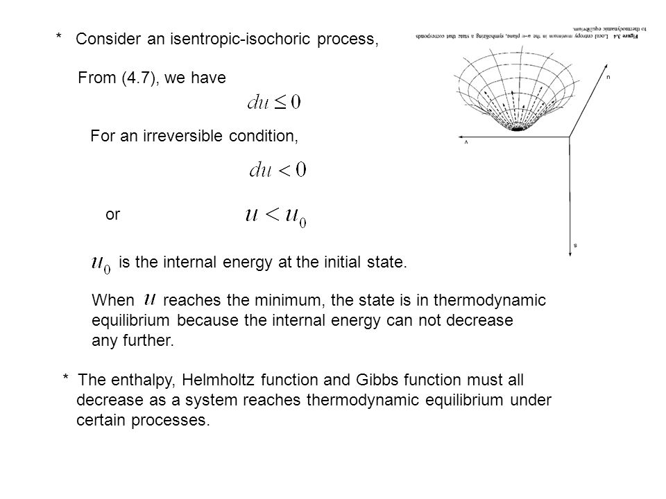 * Consider an isentropic-isochoric process,