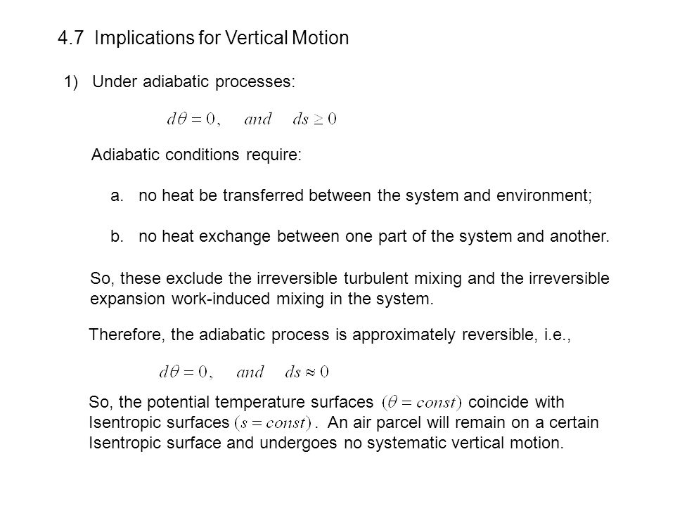 4.7 Implications for Vertical Motion