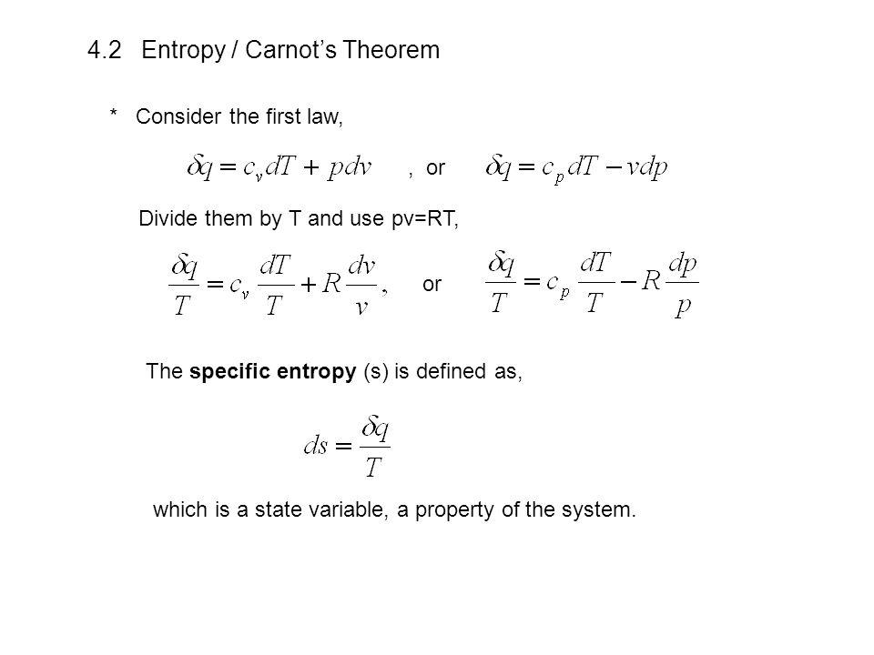 4.2 Entropy / Carnot's Theorem