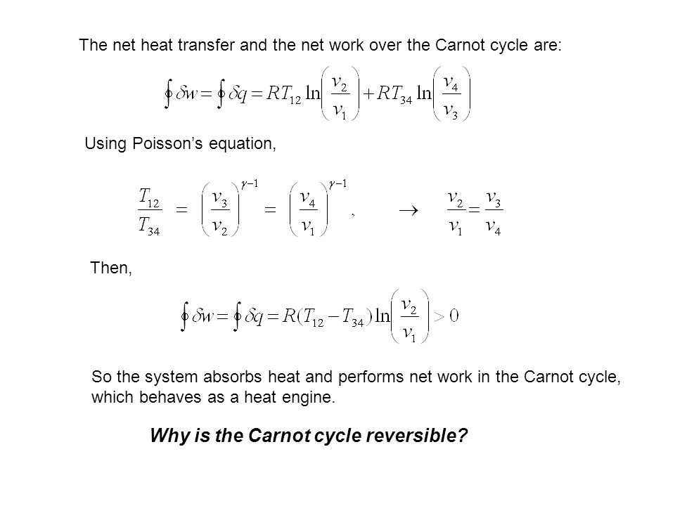 Why is the Carnot cycle reversible