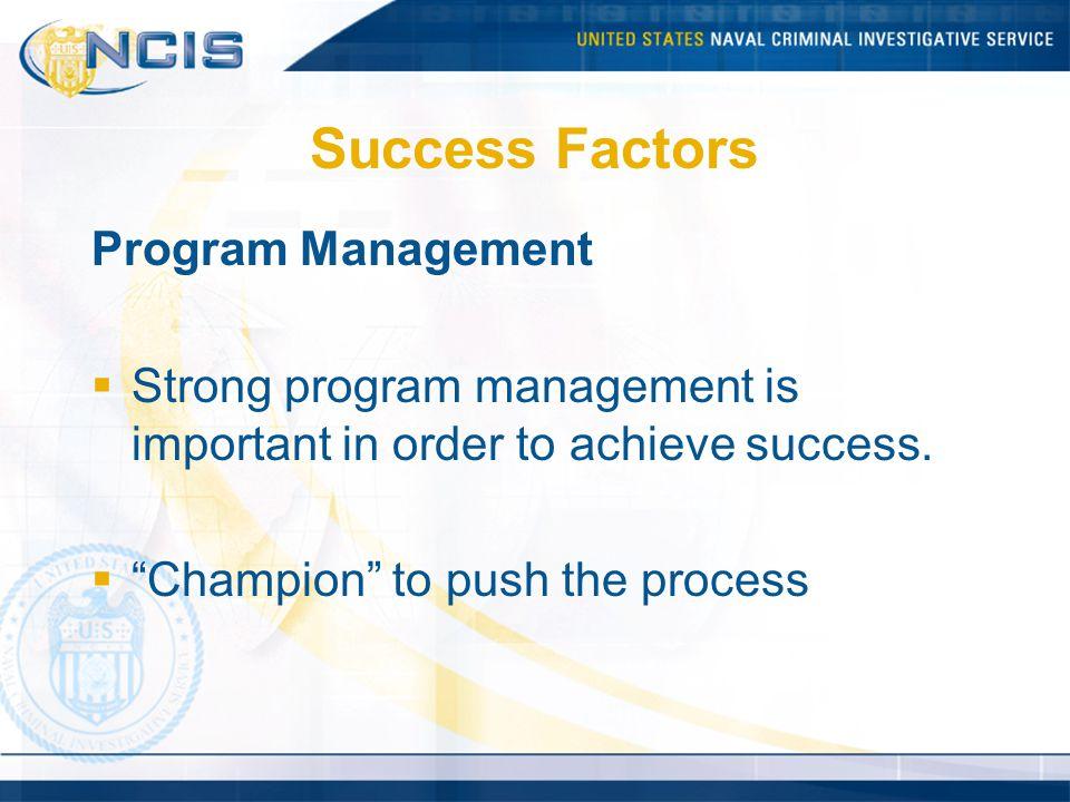 Success Factors Program Management