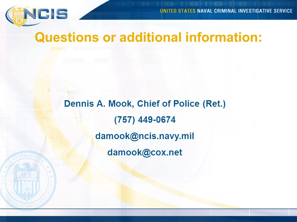 Questions or additional information: