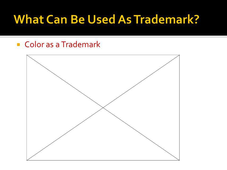 Color as a Trademark