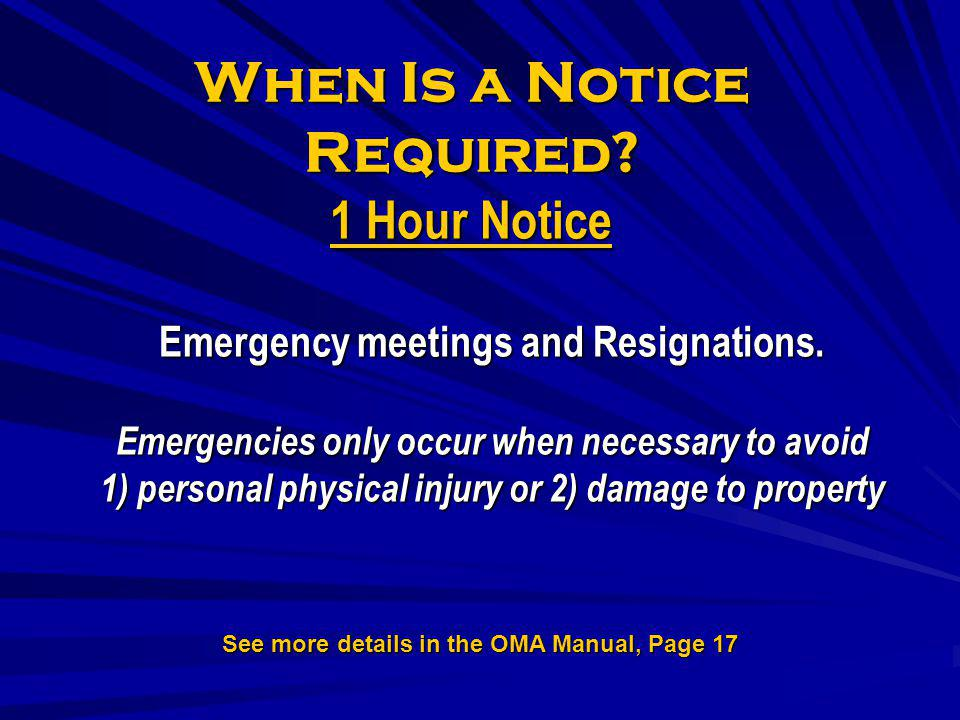 When Is a Notice Required