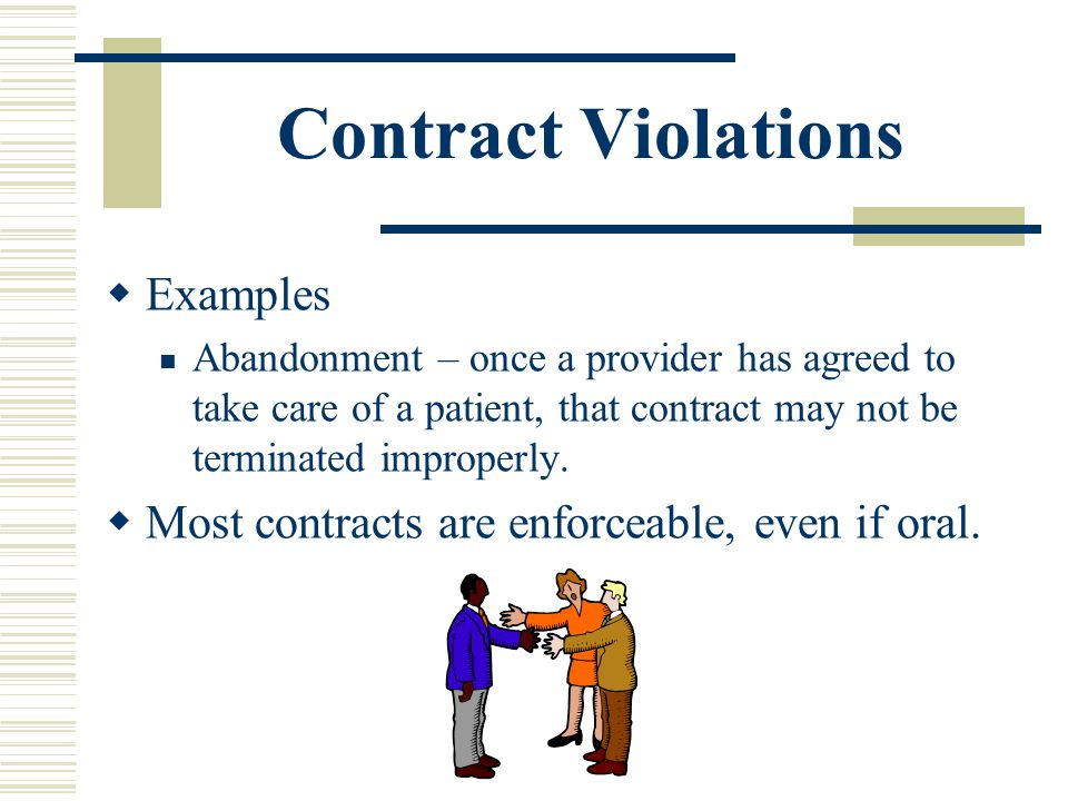 Contract Violations Examples