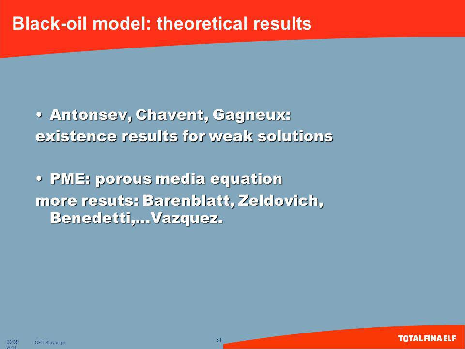 Black-oil model: theoretical results