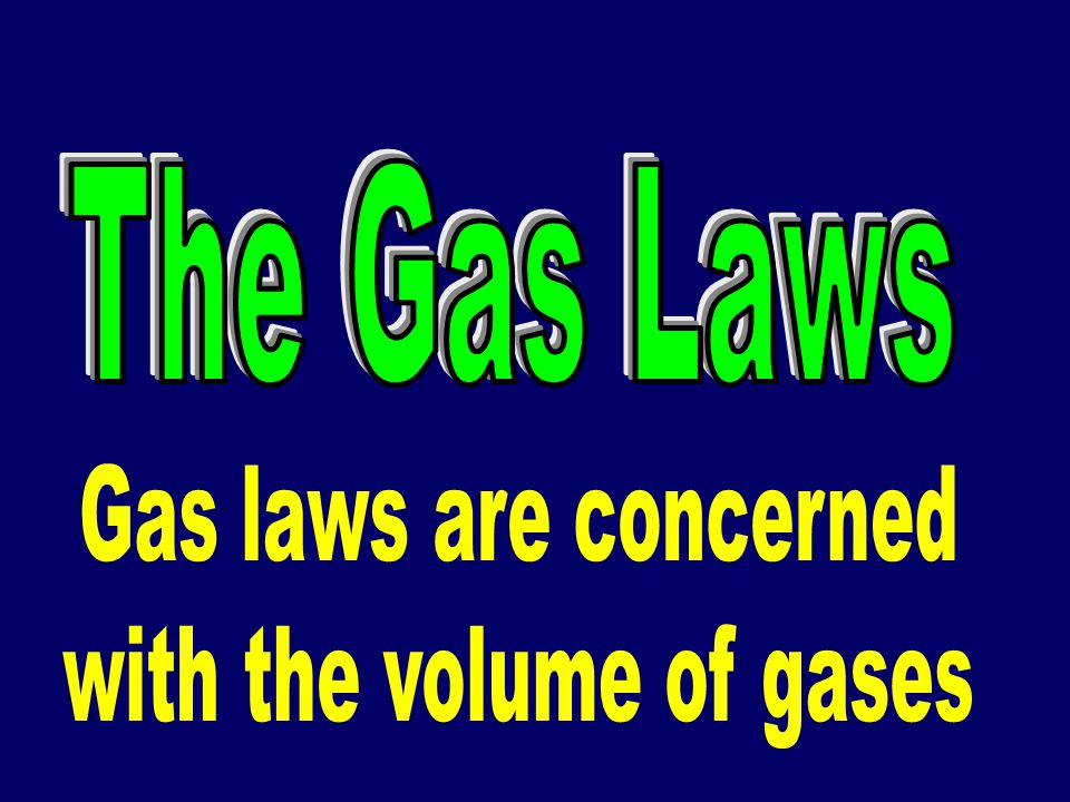 with the volume of gases