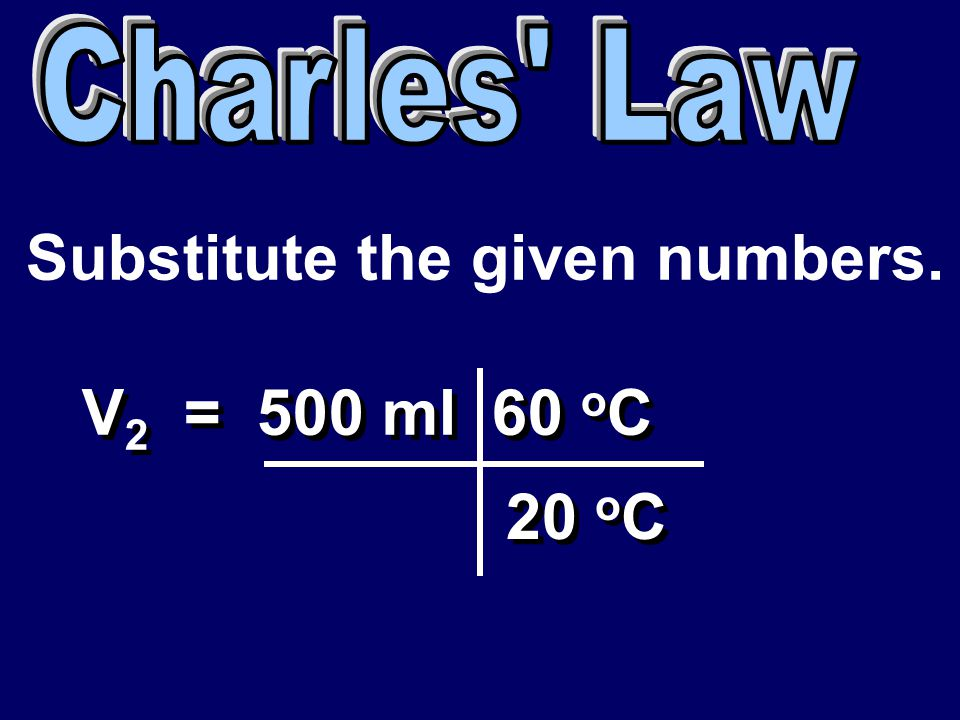 Substitute the given numbers.