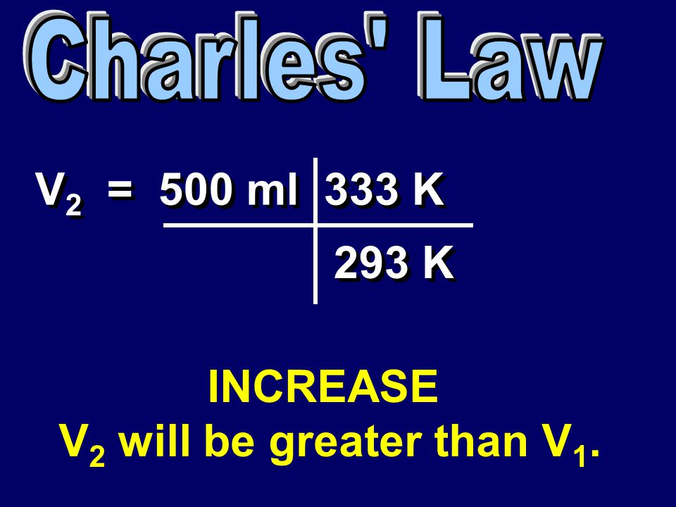 INCREASE V2 will be greater than V1.