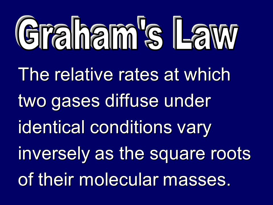 The relative rates at which two gases diffuse under
