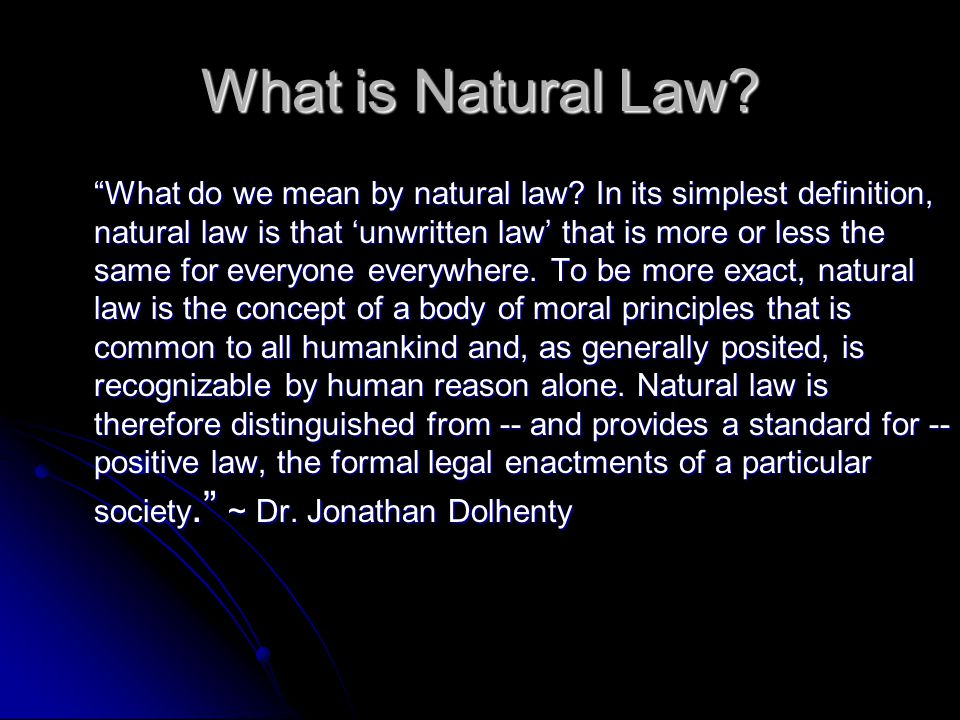 What is Natural Law
