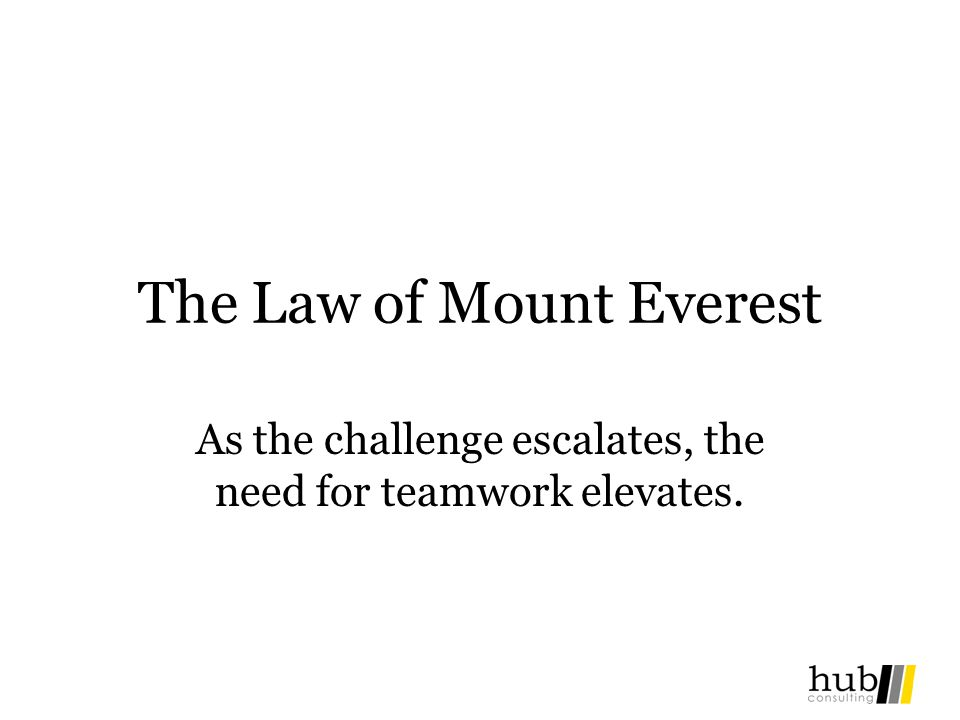 The Law of Mount Everest